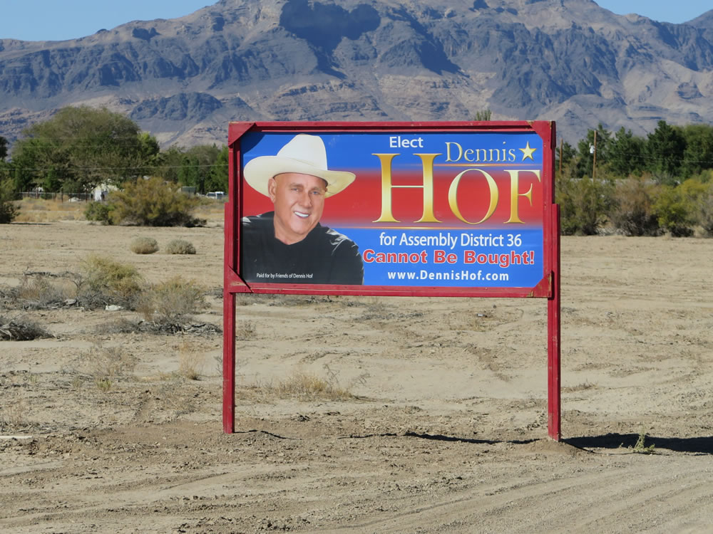 To stand a chance in a local elections you clearly need a nice big cowboy hat …