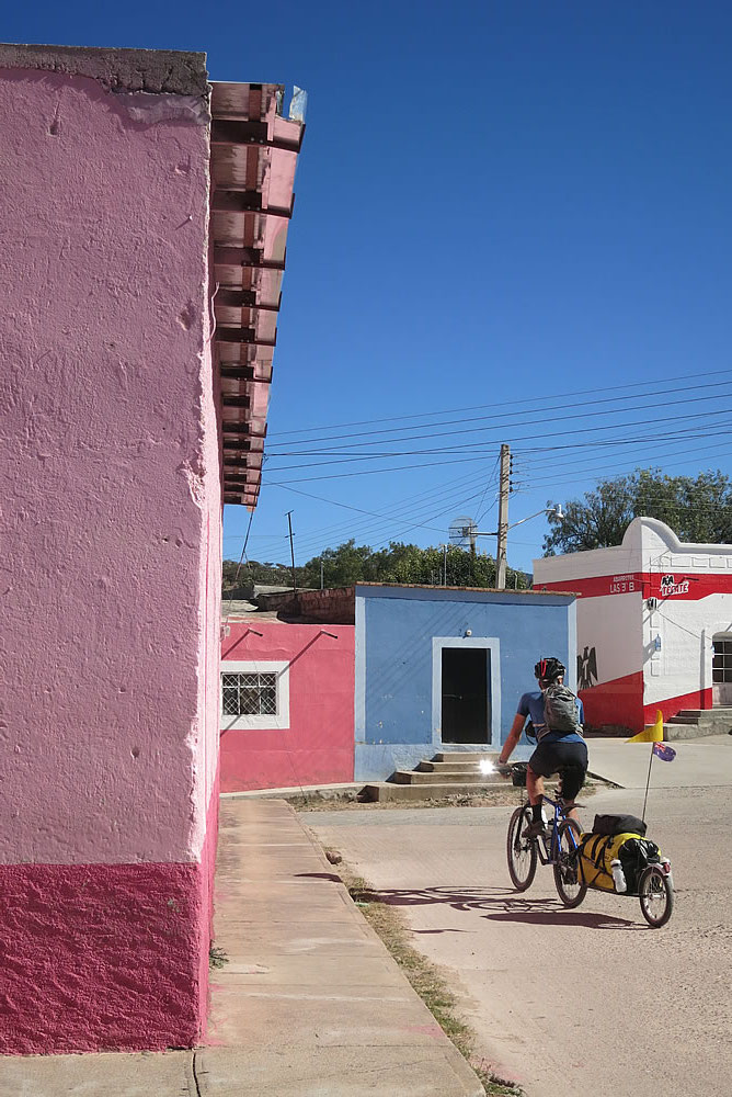 Candy coloured houses in Mesilla