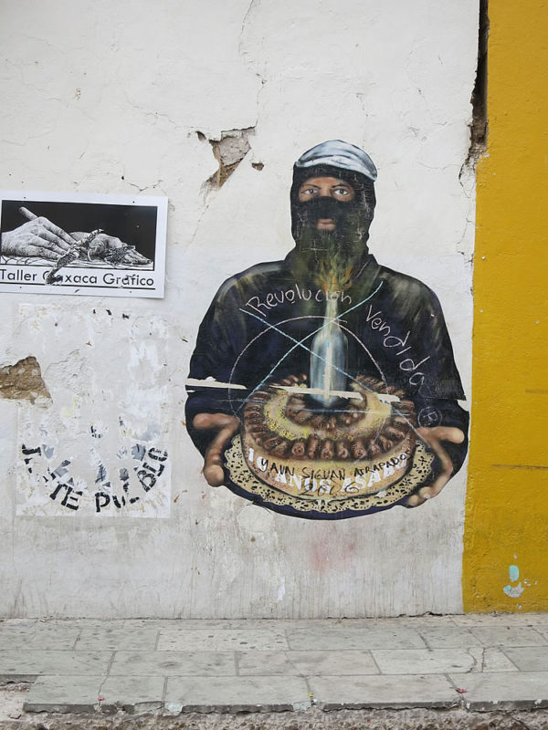 Street art with a revolutionary theme - Oaxaca