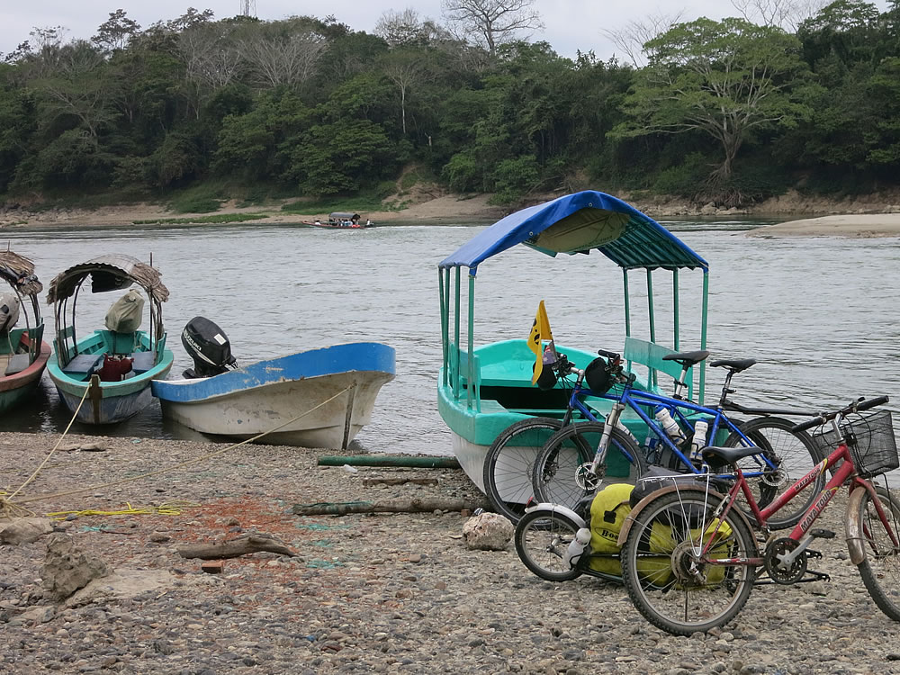 Guatemala is just across the river ... the border at Frontera Corozal